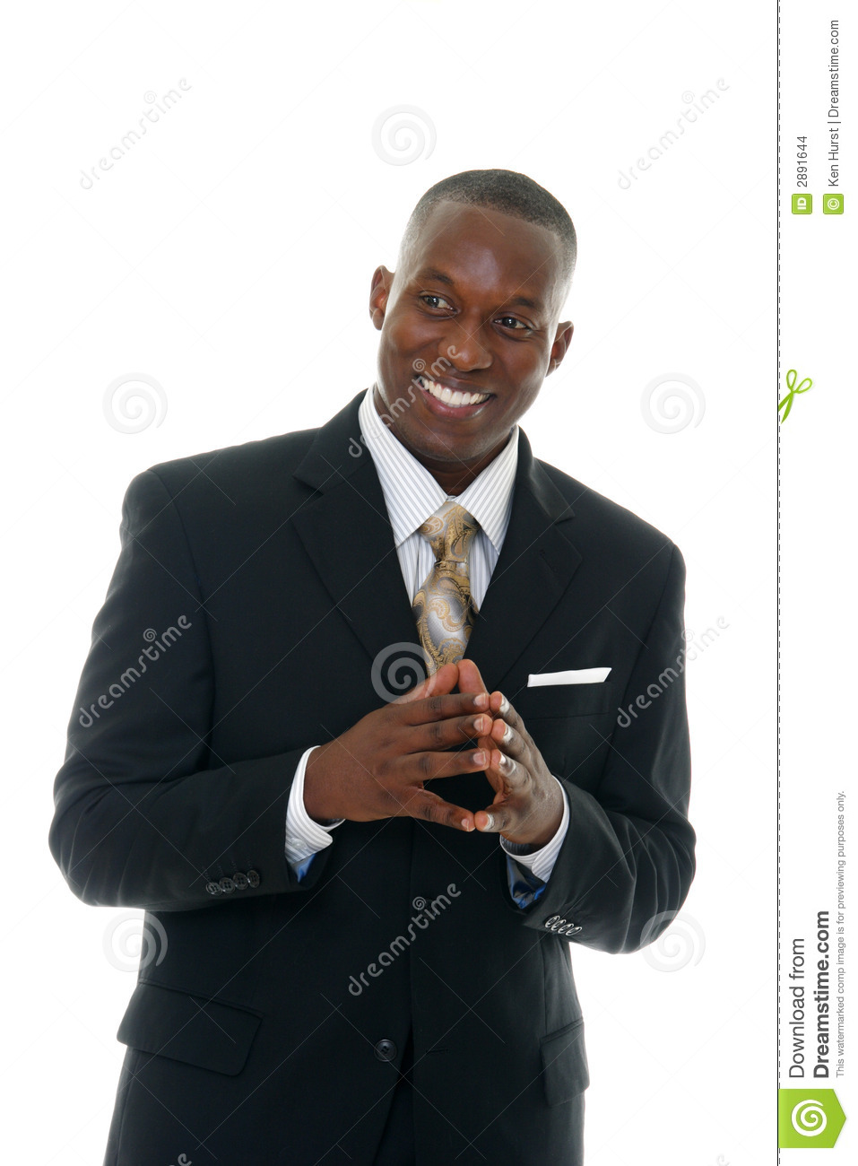 Business Man In Black Suit 4 Stock Images - Image: 2891644