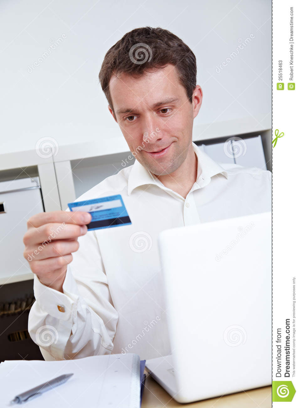 business man buying online stock image  image of deal