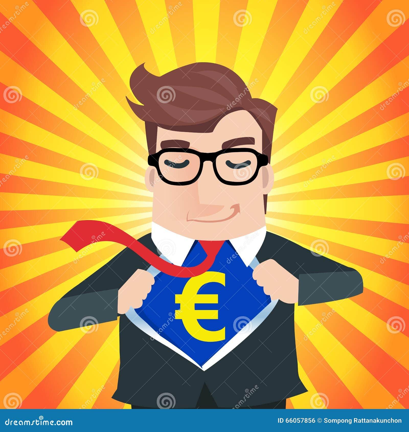 Business Man Cartoon Stock Vector Illustration Of Chest 66057856