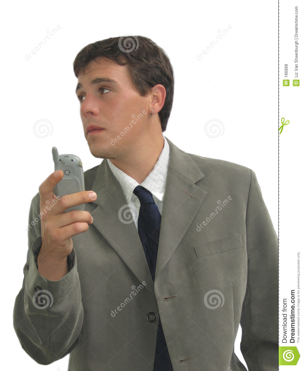 Business Man With Cell