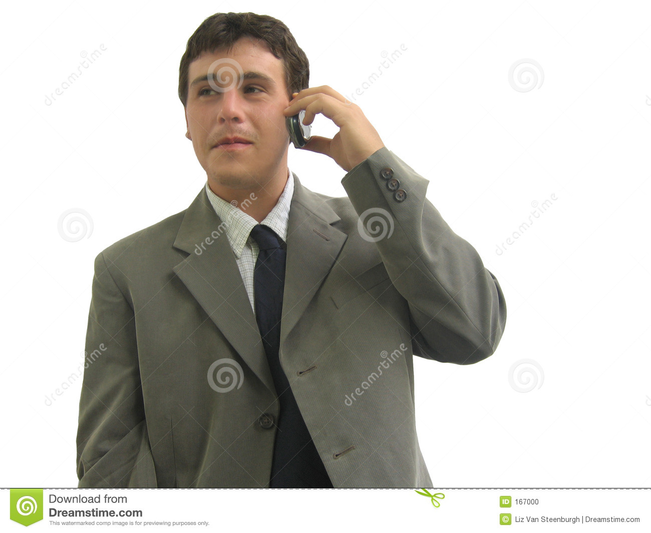 Business Man On Cell