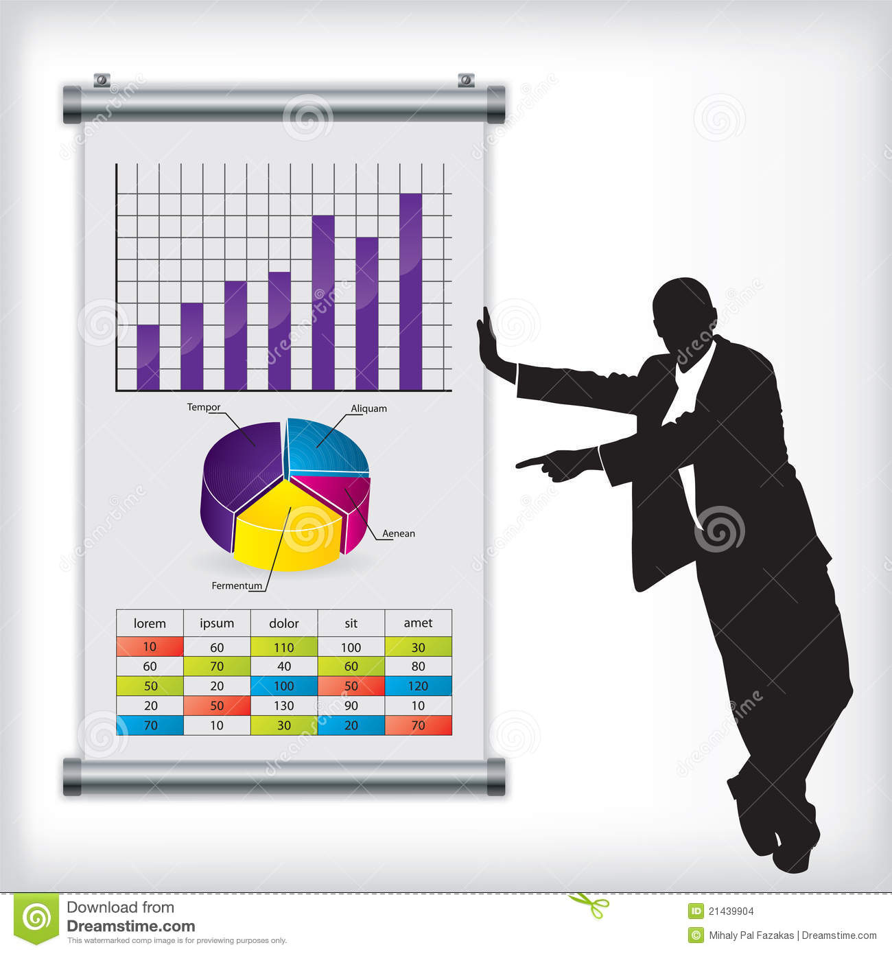Business man with chart