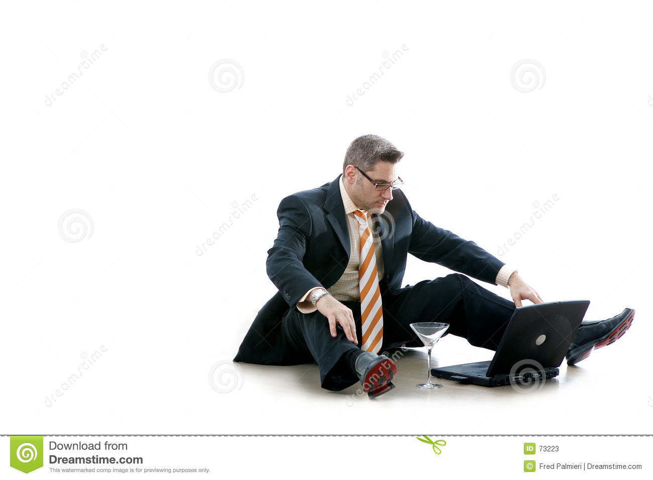 Business Man Checks His Email (Workaholic)