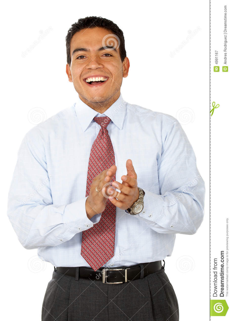 Man clapping