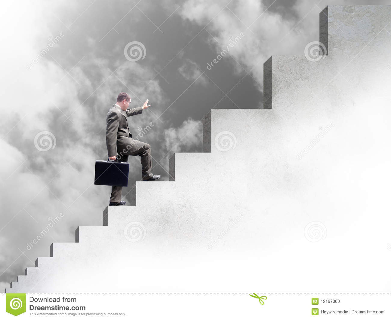 Business Man Climbing Up Stairs To Success Stock Photo - Image ... for Climbing Stairs To Success  67qdu