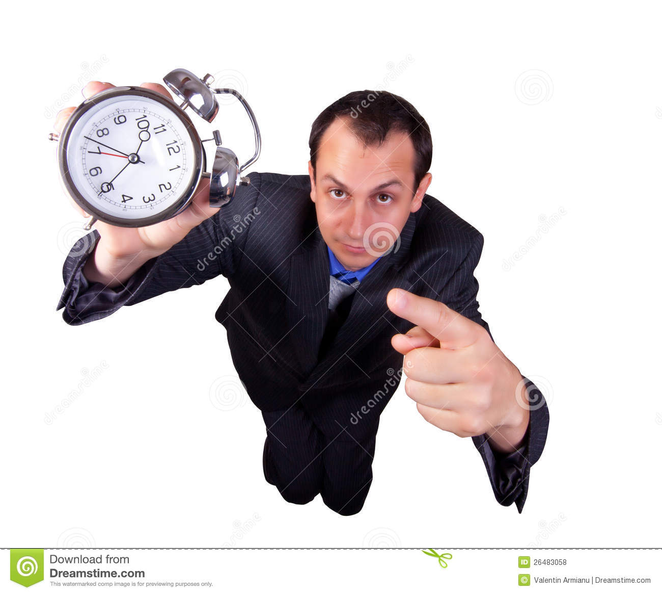 Business Man with Clock
