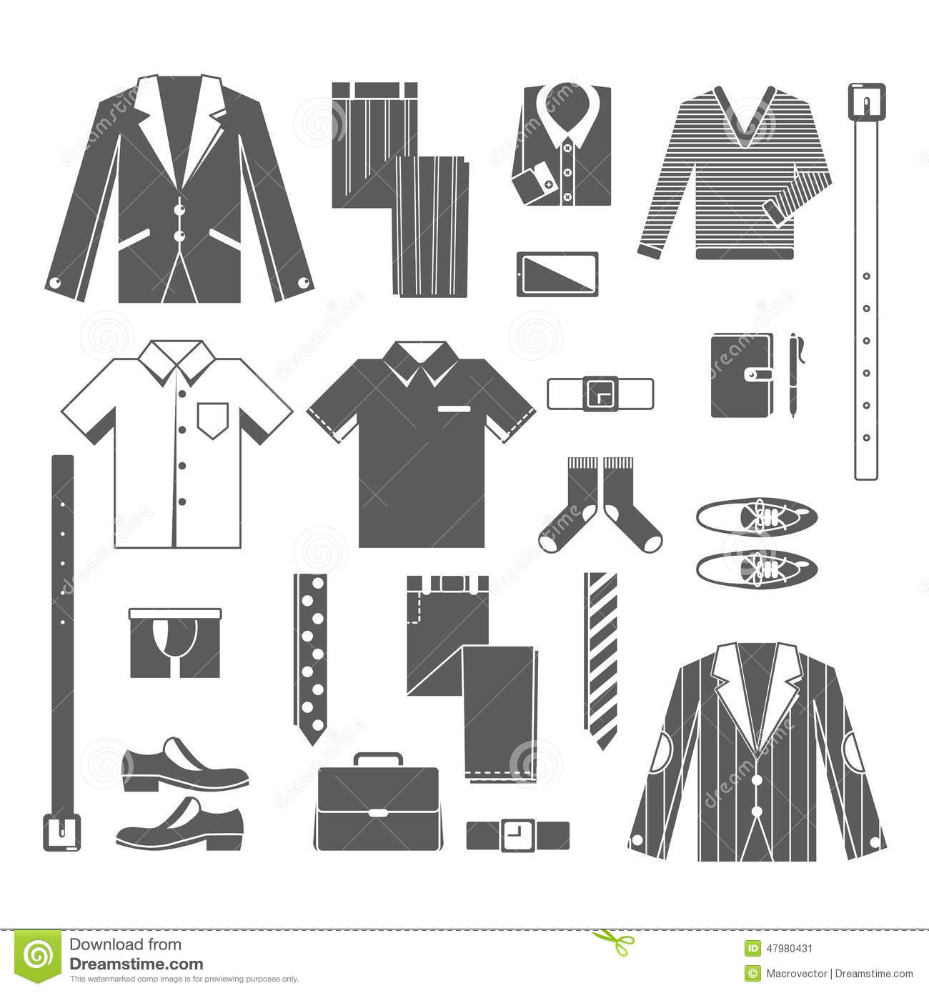 Business man clothes icons set stock vector illustration of male download business man clothes icons set stock vector illustration of male sale 47980431 ccuart Images