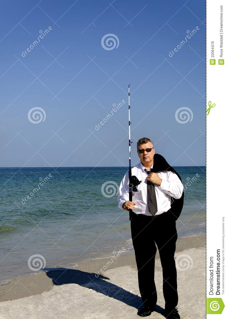 Business man with fishing pole stock photo image 22064476 for Fishing times free
