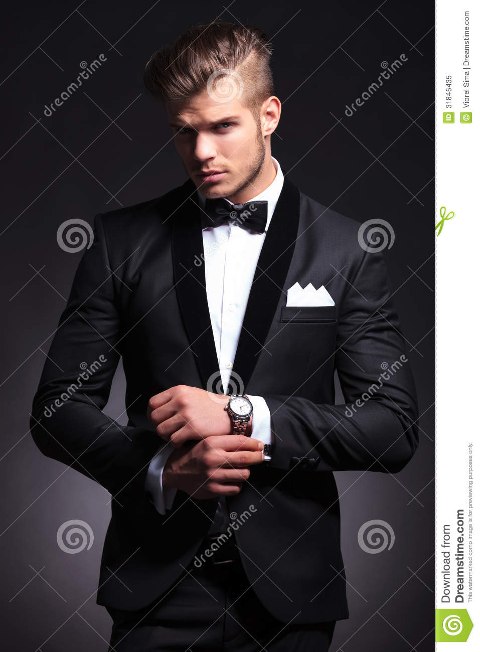 Business Man Fixing Cufflinks Royalty Free Stock Photo ... Young Businessman Fashion
