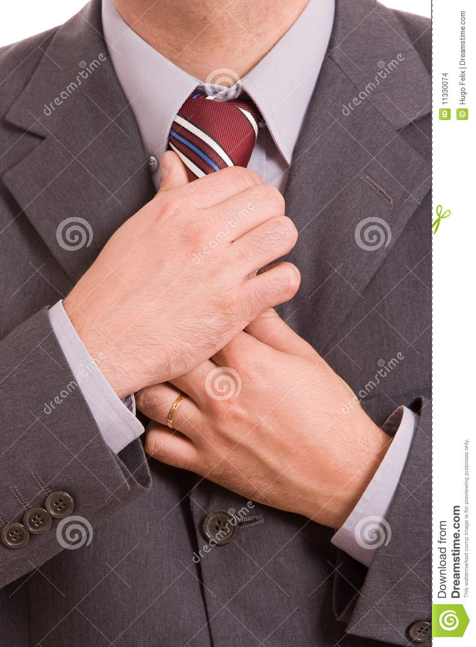 business man fixing his tie stock photo image 11330074