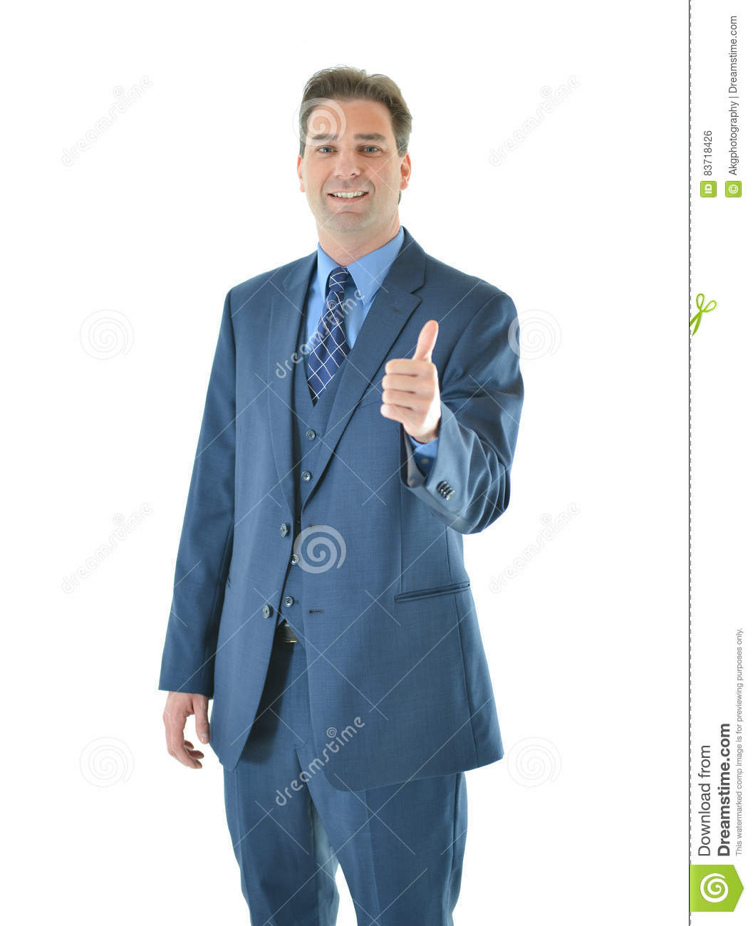 Business Man Giving A Big Thumbs Up Stock Photo