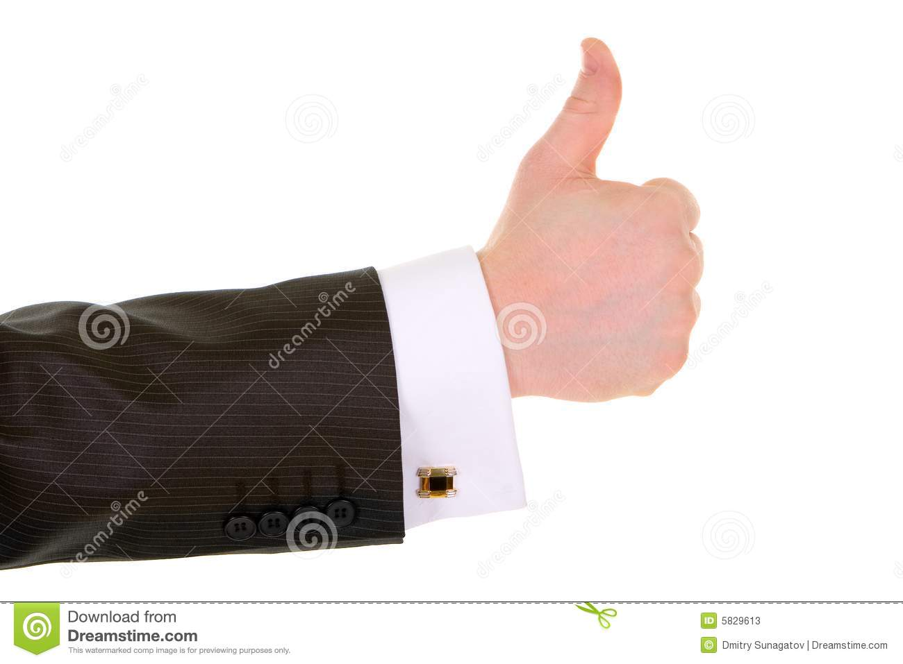 Business man hand gesture