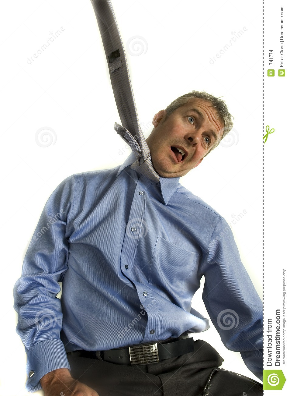 Business Man Hanging From Tie Stock Images - Image: 1741774