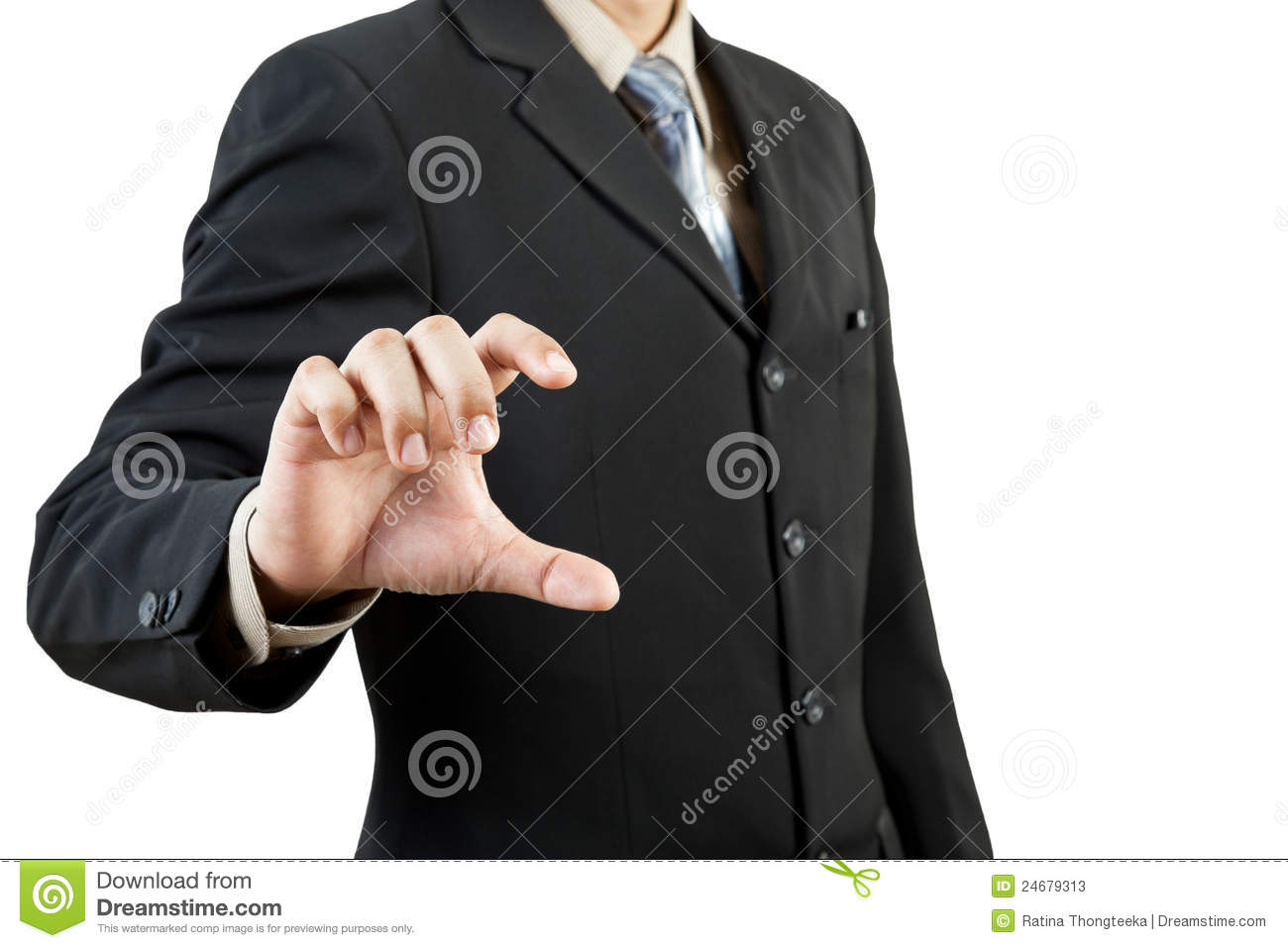 Business man holding