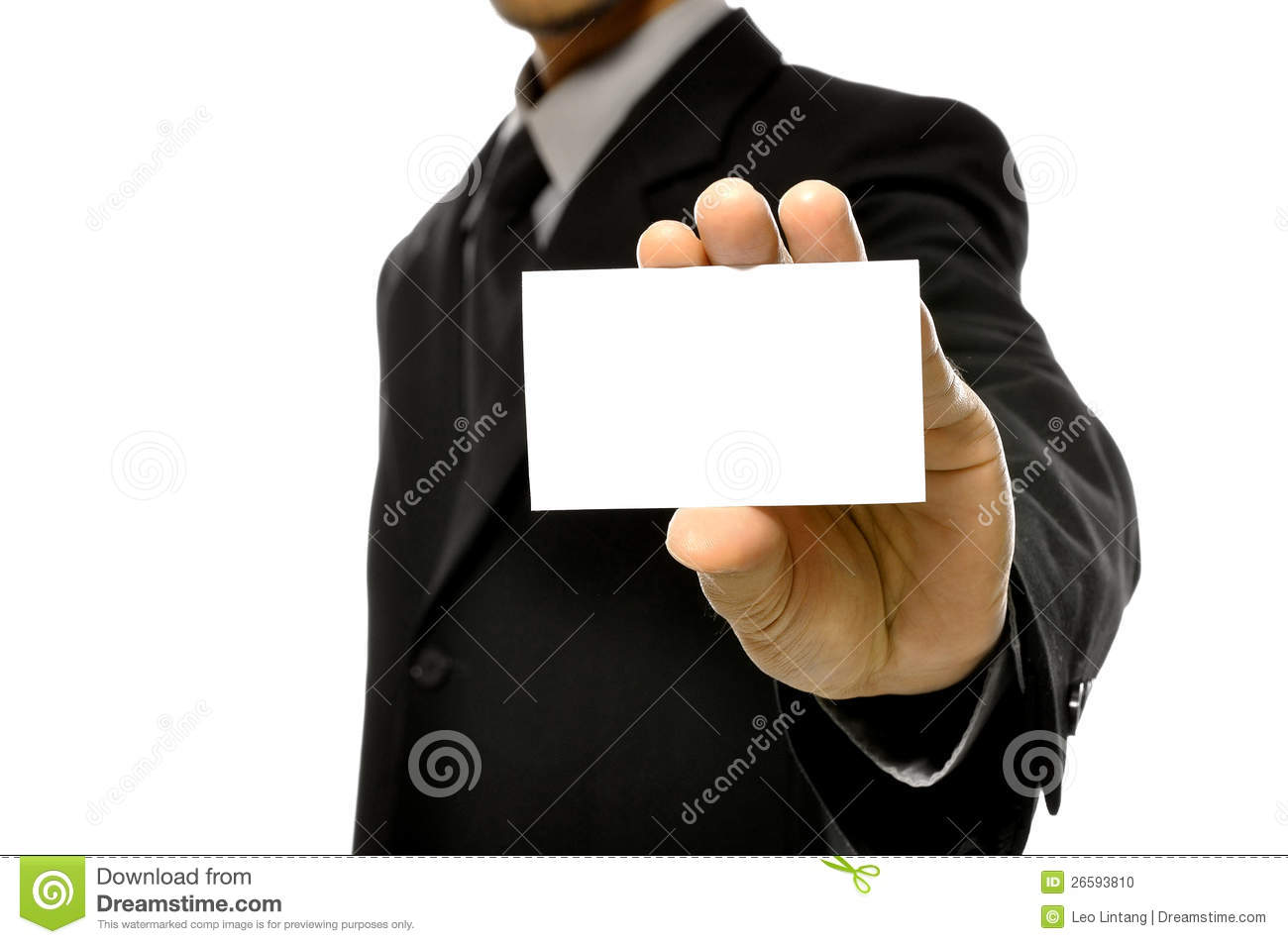 Business Man Holding Name Card Stock Photo - Image of success, adult ...