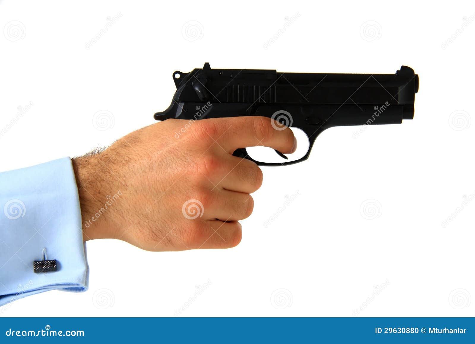 Business Man Holding Pistol Stock Photo - Image: 29630880