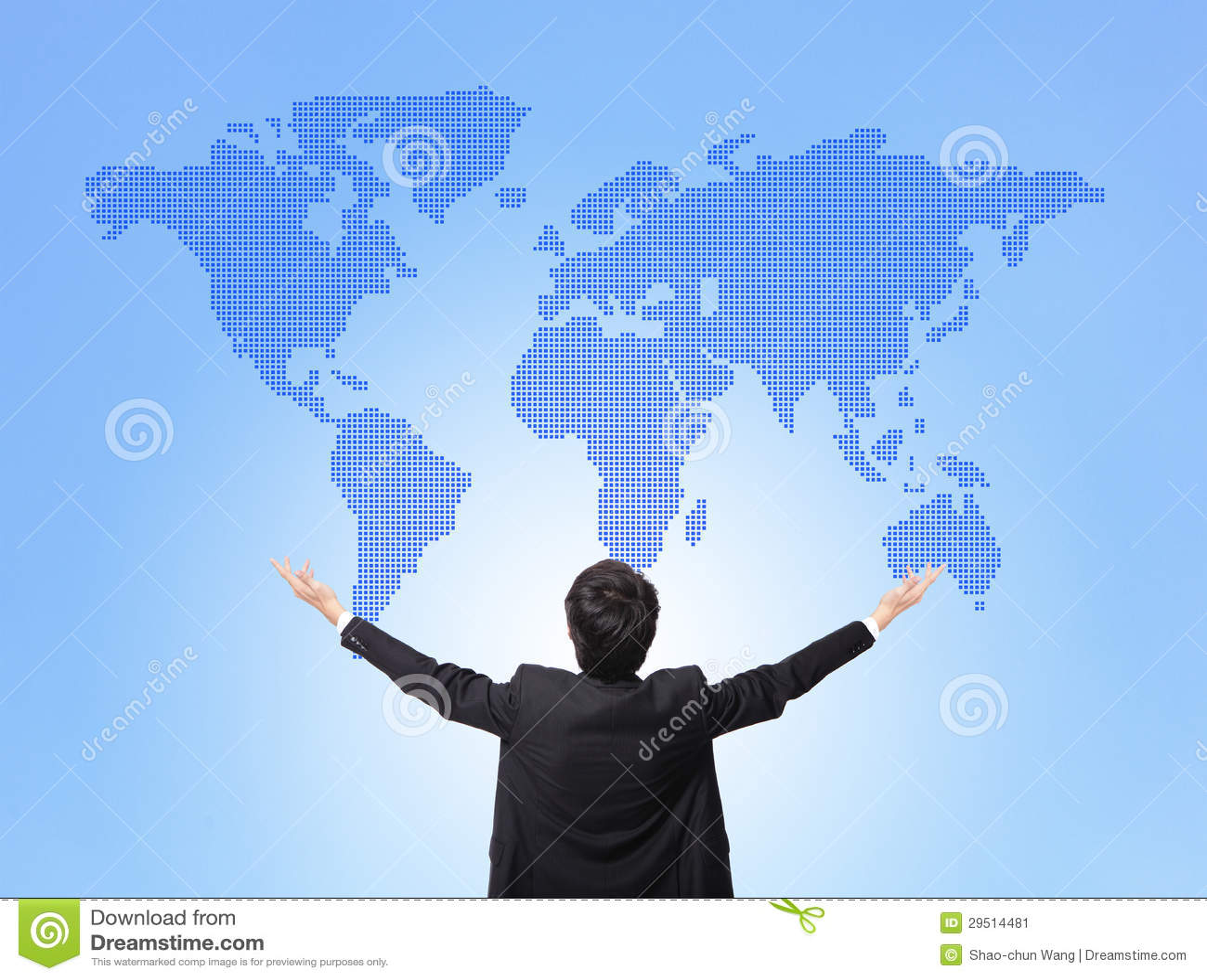 Map The Hug Business Man Hug Global Map Stock Image   Image of happy