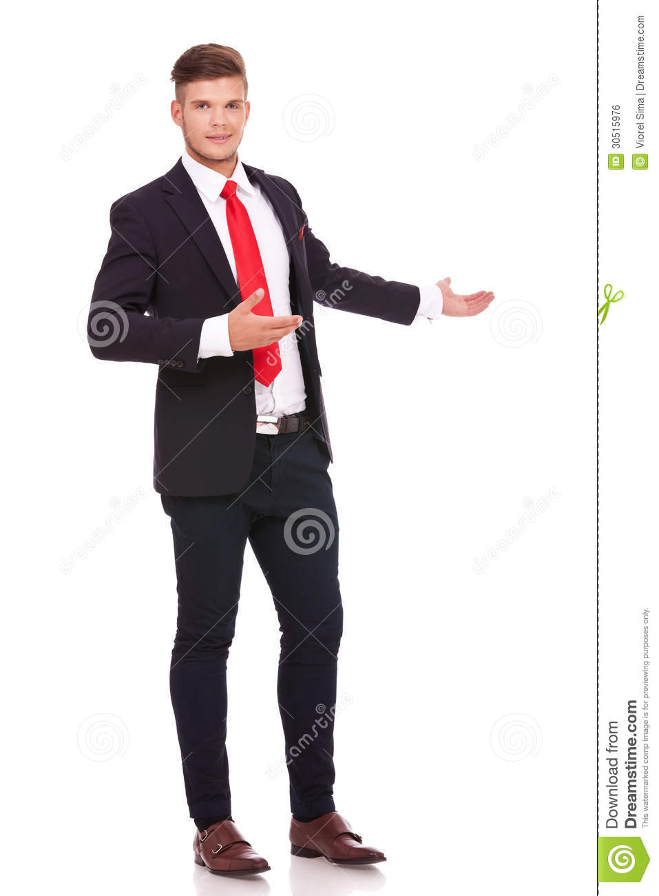 Business Man Inviting You In The Back Stock Photo Image Of Latin