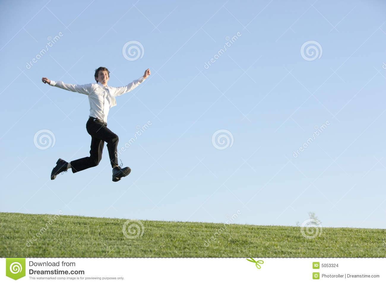 a business man jumping for joy stock images image 5053324