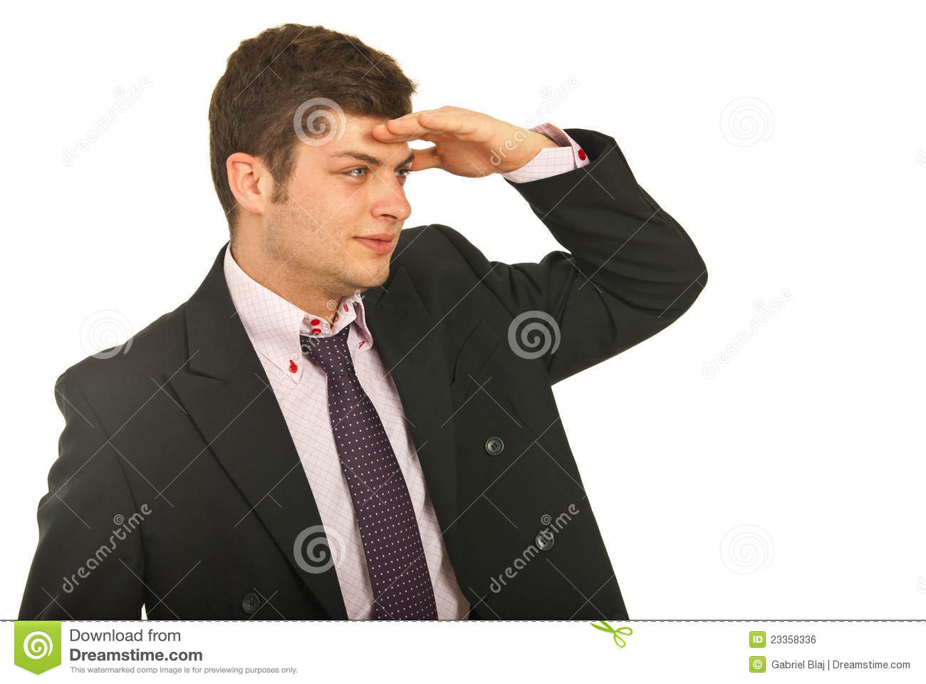 Business Man Looking Away For Something Royalty Free Stock