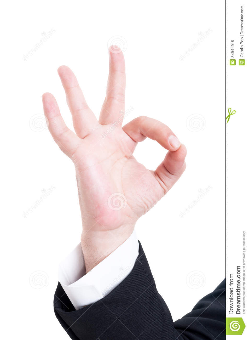 Man Making The Ok Gesture Stock Photography