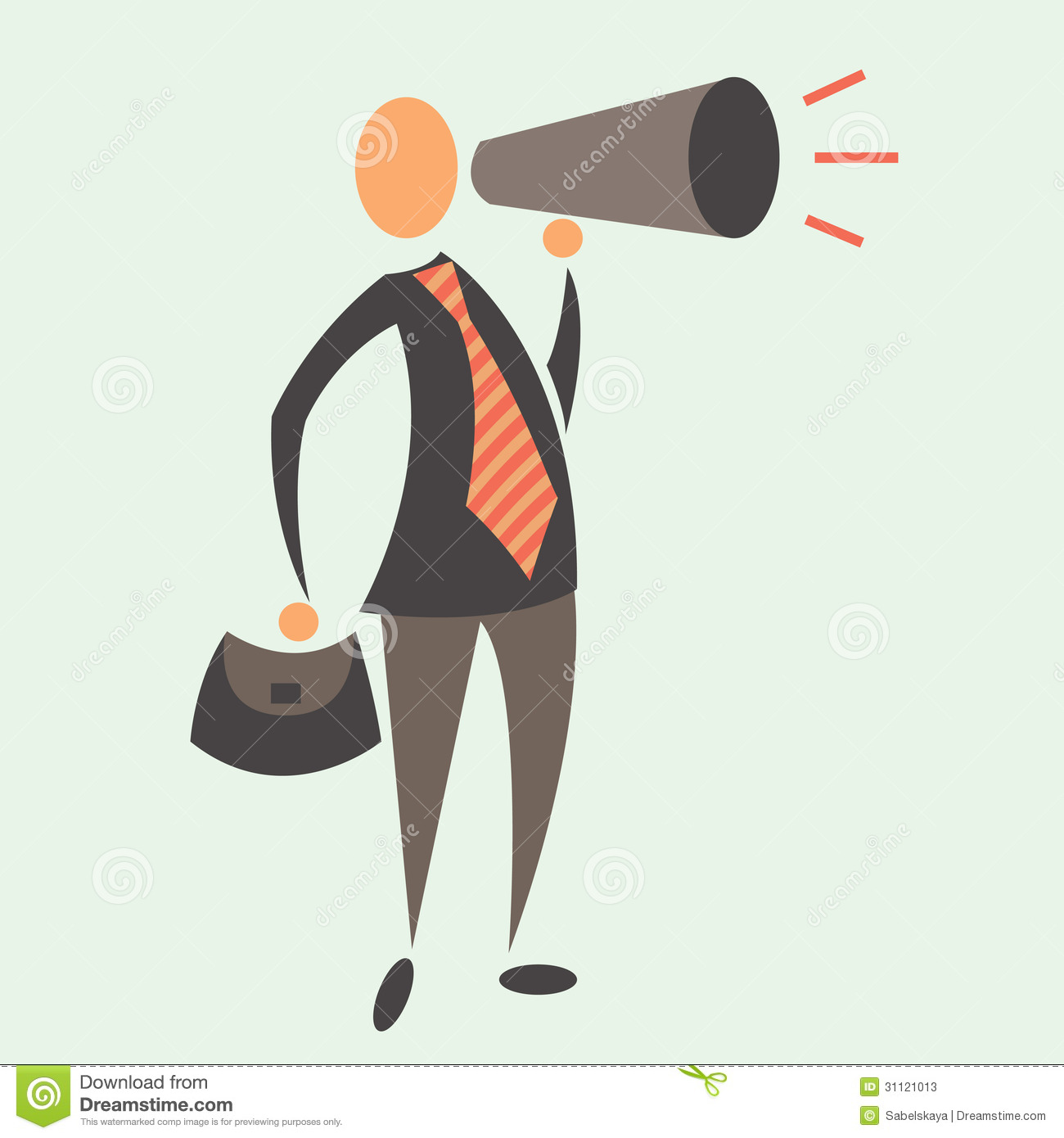 clipart man with megaphone - photo #24