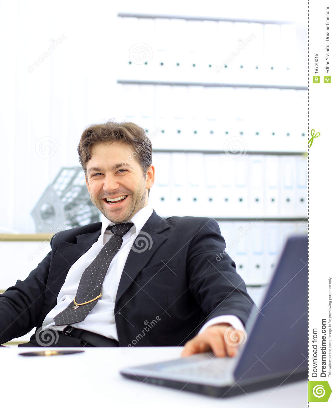 Business Man In Office Royalty Free Stock Photo - Image: 18720015