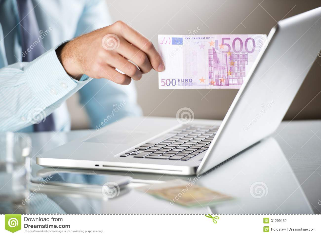 Business Man With Pc Stock Photography - Image: 31299152