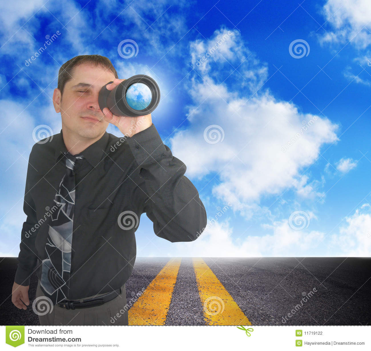 business man planning for the future stock photo
