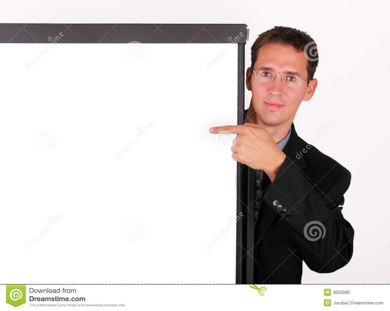 business man point to the whiteboard stock image image of