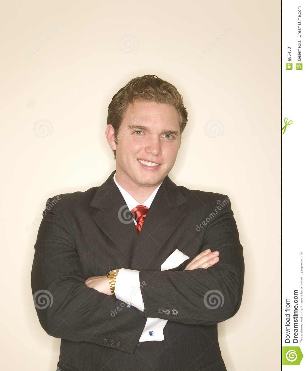 Business man in power pose 10
