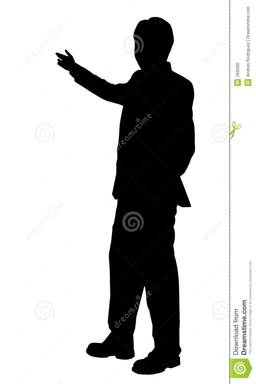 Business Man Presenting Silhouette Stock Illustration