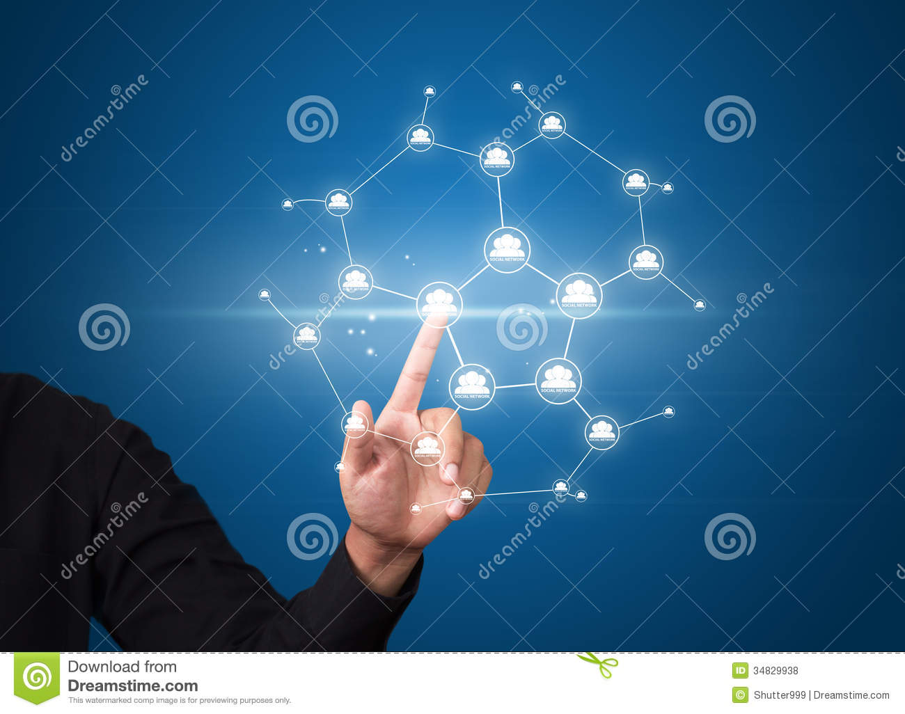 Royalty Free Stock Photos: Business man pressing modern social network ...: www.dreamstime.com/royalty-free-stock-photos-business-man-pressing...