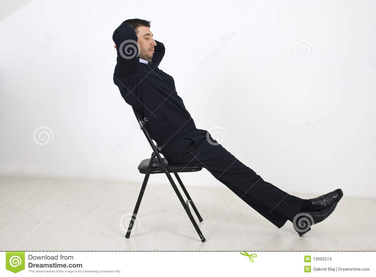 Business Man Resting On Chair Stock Photo Image 13993374