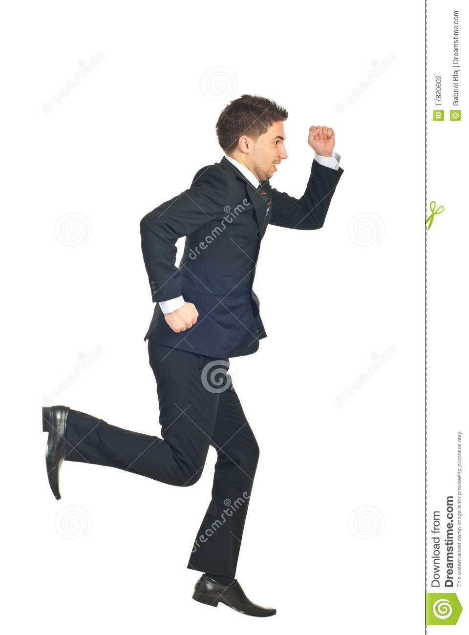 Business Man Running Away Stock Photography - Image: 17820602