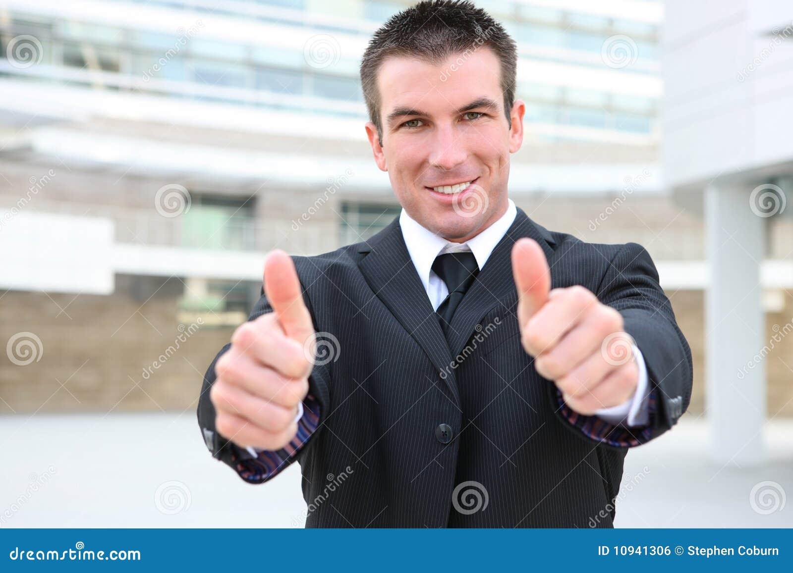 Business Man Signaling Success