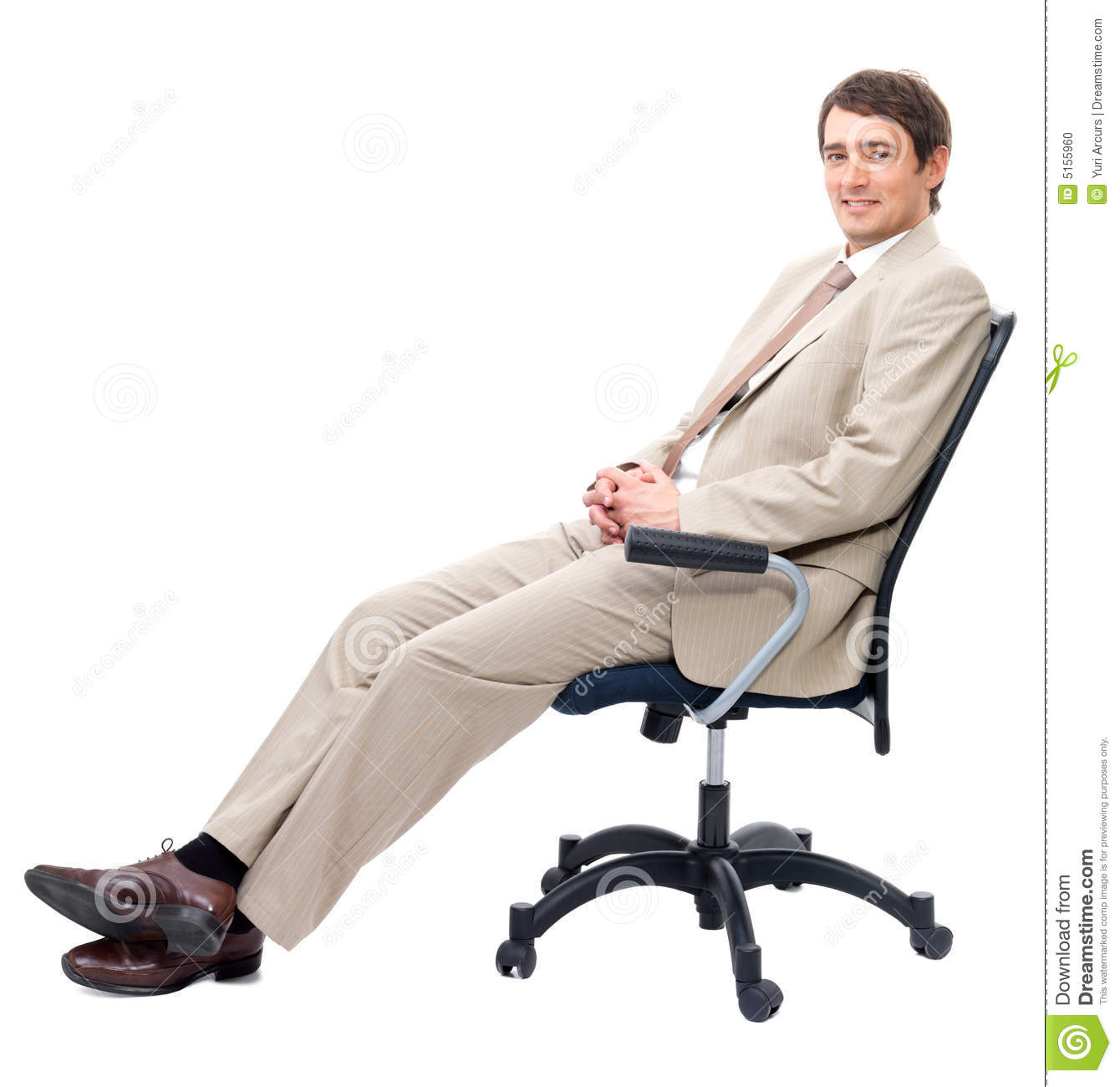 Stock photo business man sitting on chair image 5155960 for Sitting chairs