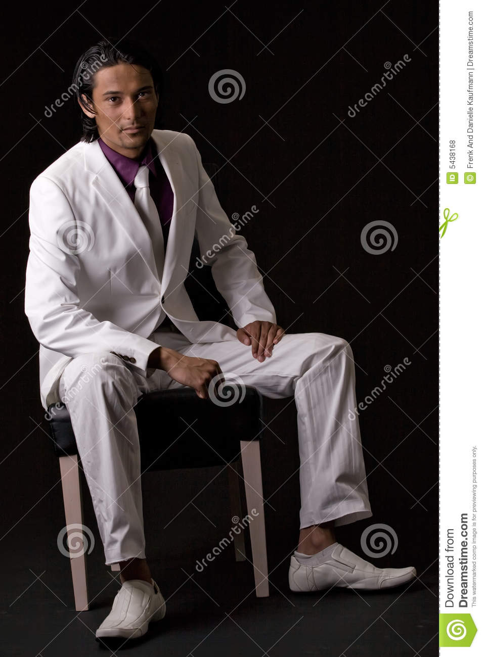Business man sitting on a chair
