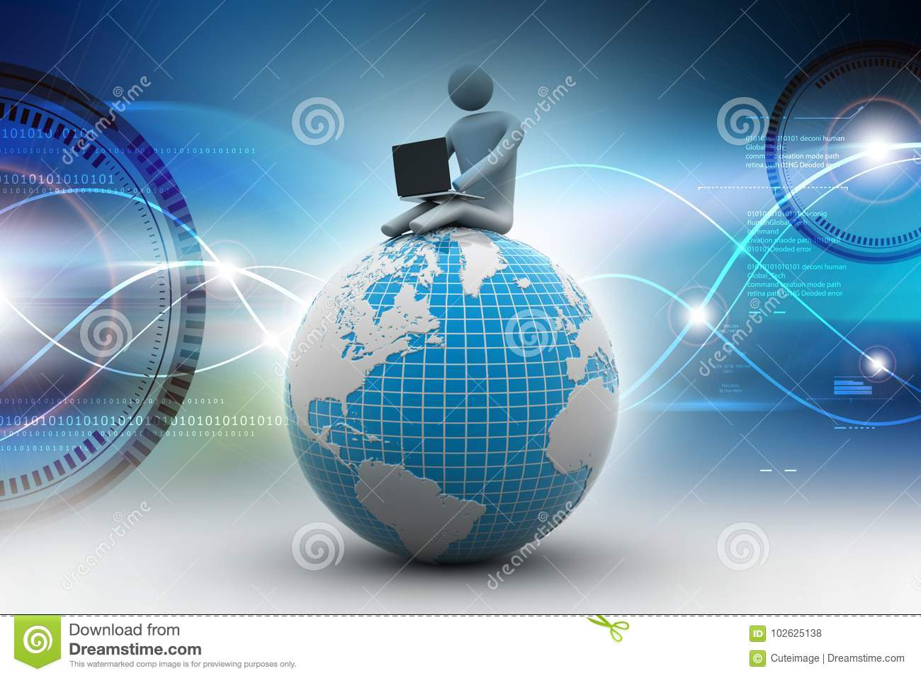 8fe97b1c77c0 Business Man Sitting On Top Of The Globe Stock Illustration ...