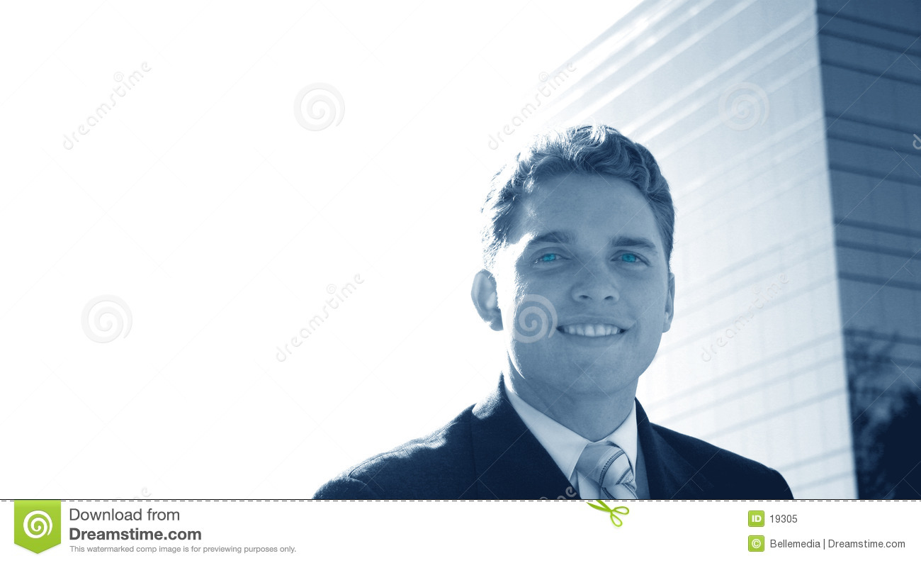 Business man with a smile