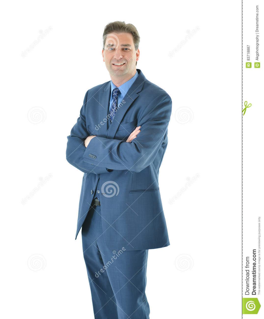 Business Man Standing With A Smile Stock Photo