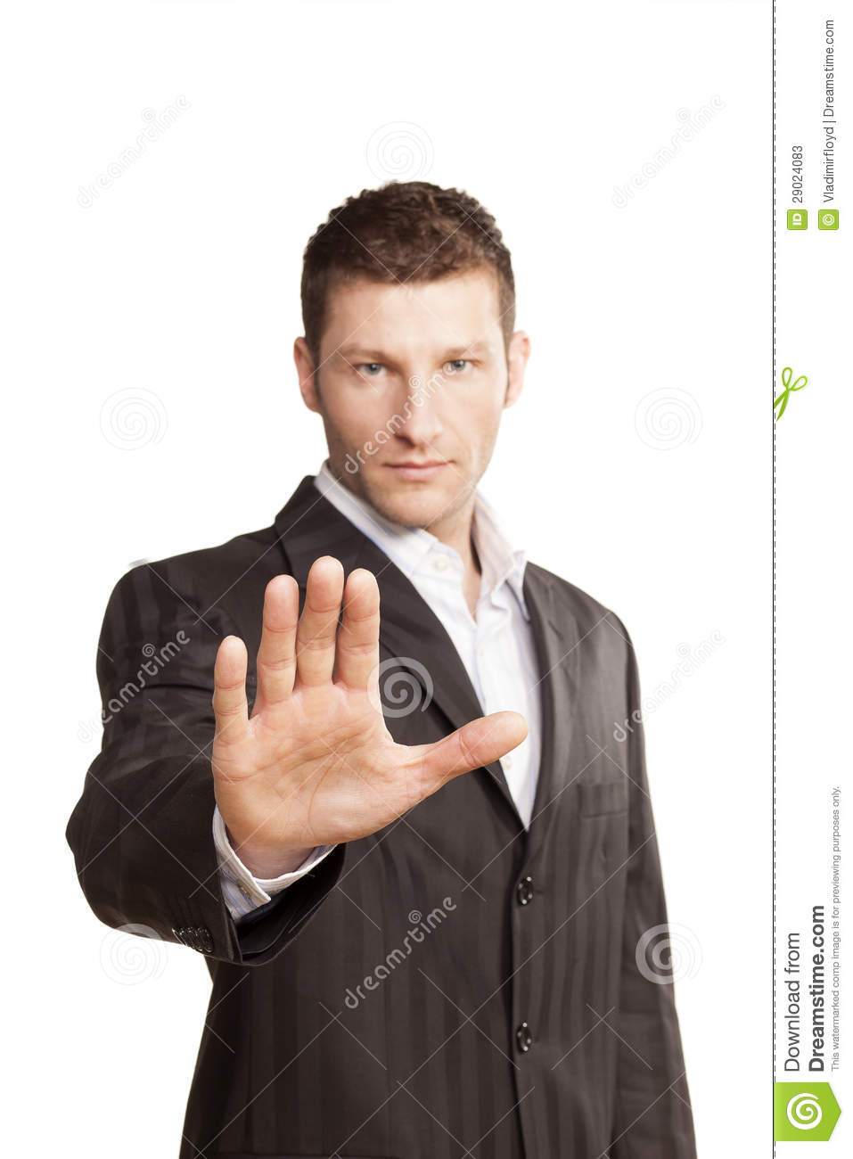 Business Man With Stop Hand Up Stock Image - Image: 29024083