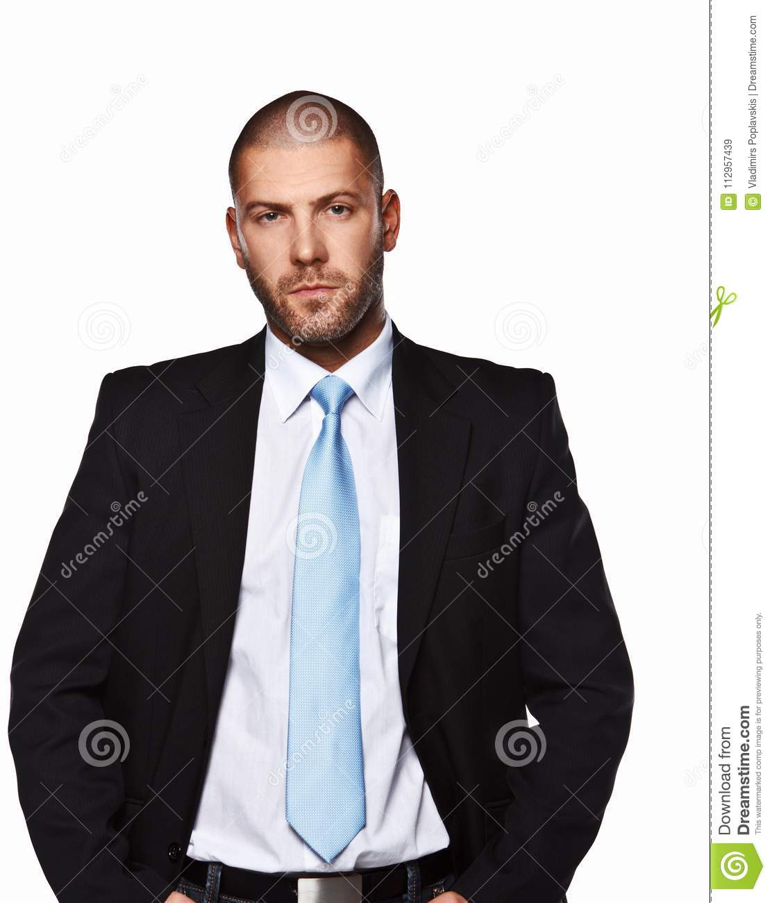 Business man in a suit.