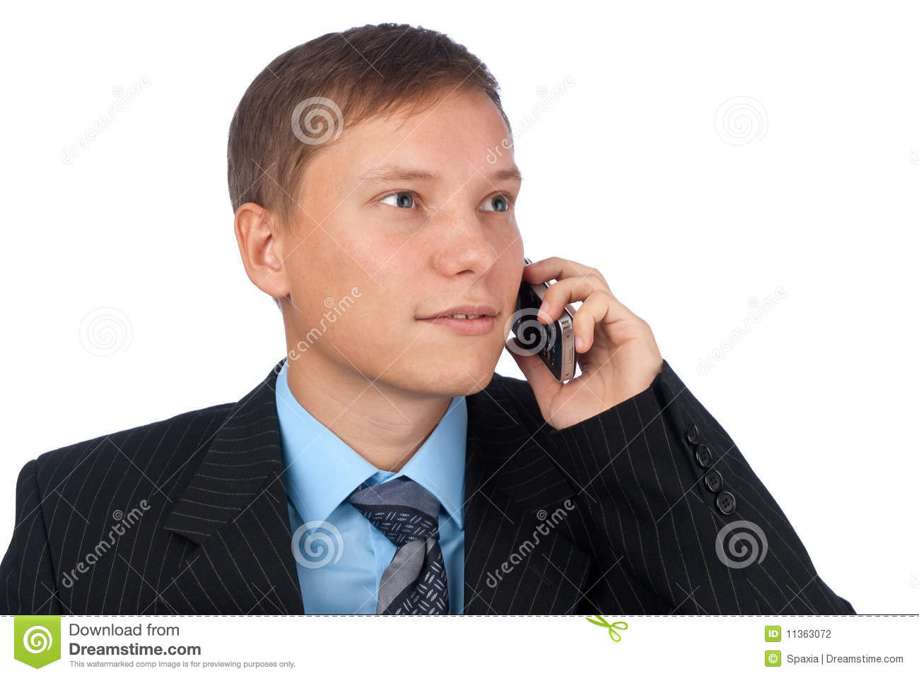 Business Man Talking On The Cell Phone Stock Photography ...