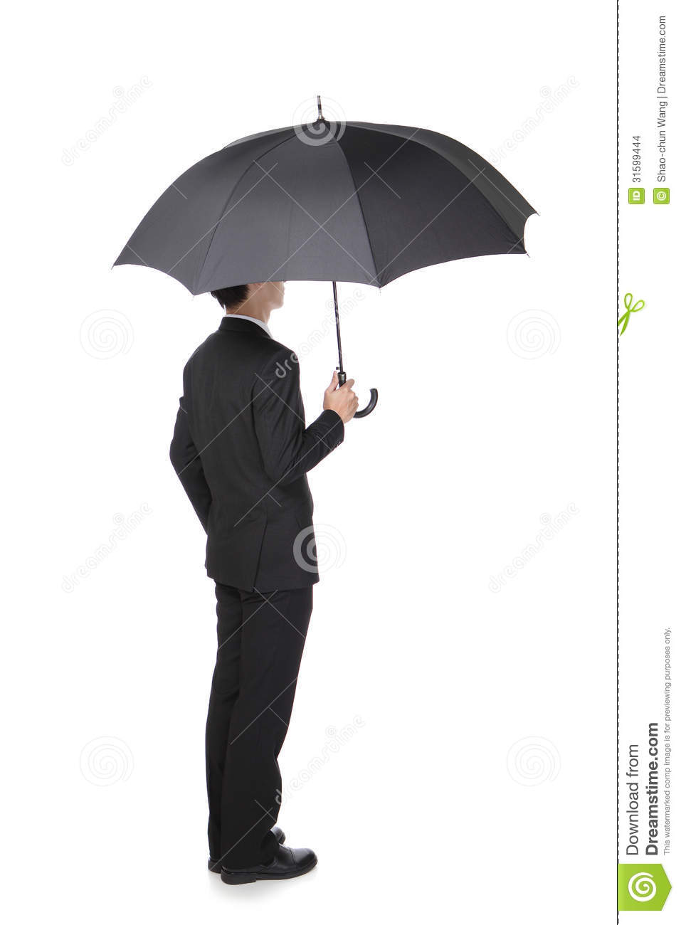 business man with an umbrella stock photo image of confident