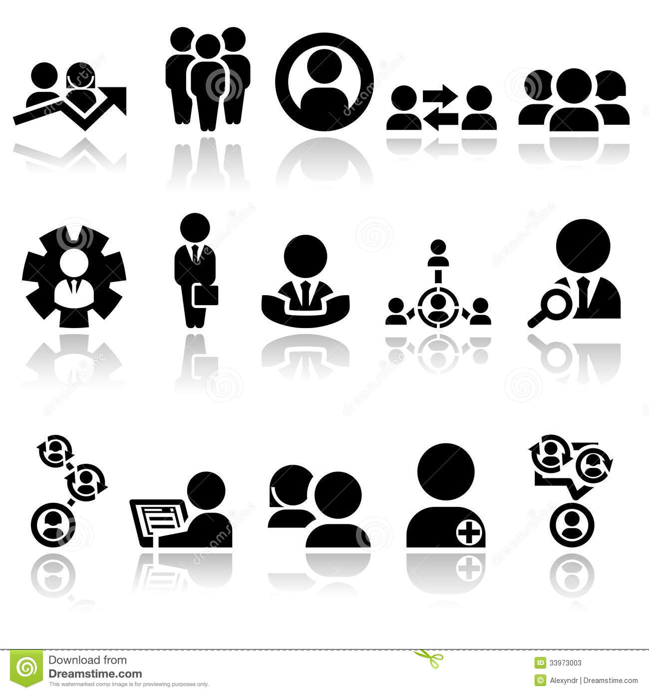Business Man Vector Icons Set EPS 10 Stock Photos - Image: 33973003