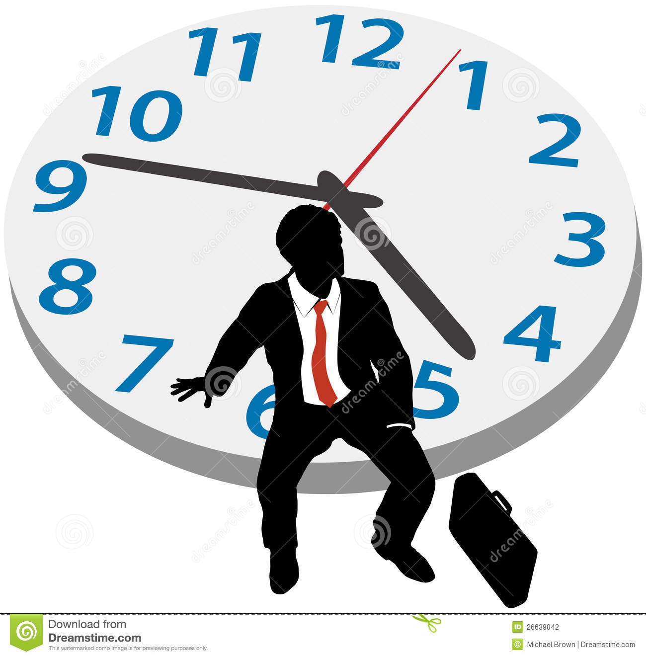Business man wait appointment time clock stock photography for Time for business