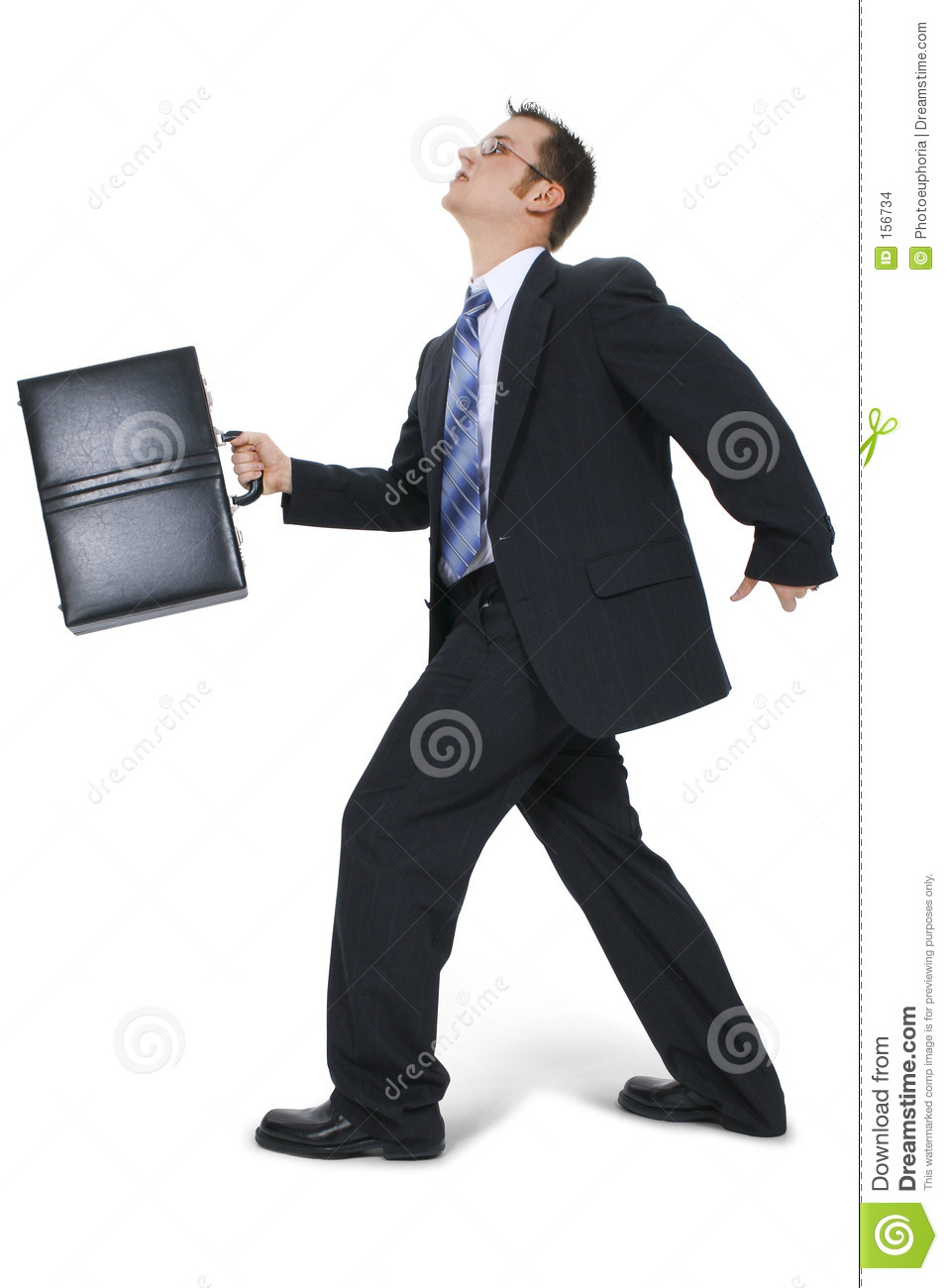 Business Man Walking With Briefcase