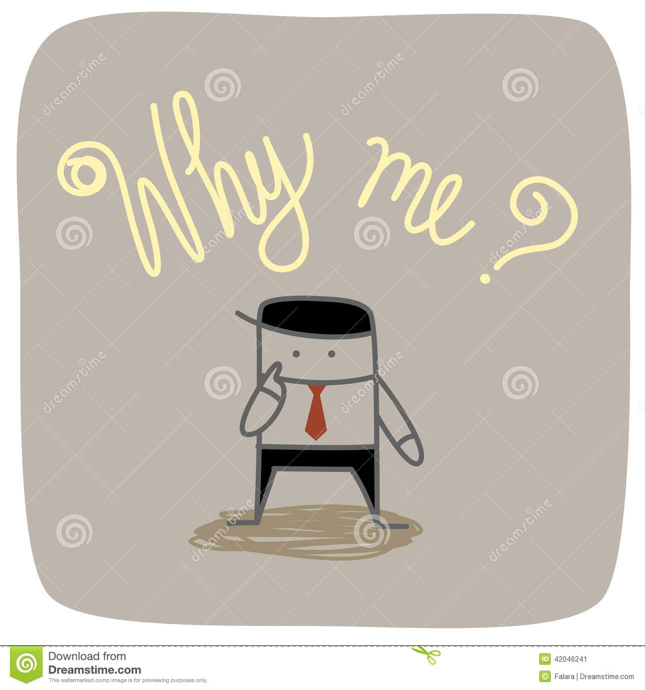 business man why me question stock vector image 42046241 business man why me question