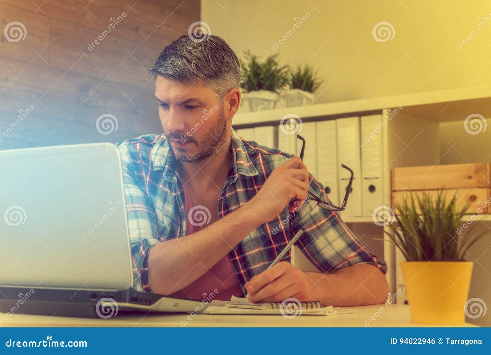 Business man working creative
